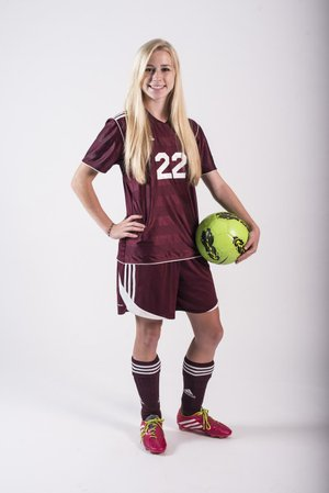 Gentry freshman Amber Ellis broke the state's single-season scoring record in girls soccer with 68 goals last season, and has been named the All-Arkansas Preps Girls Player of the Year.