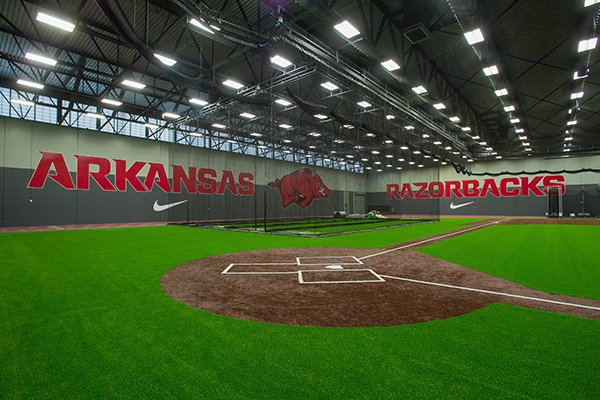 Arkansas' indoor baseball facility was reported to cost $9.625 million.