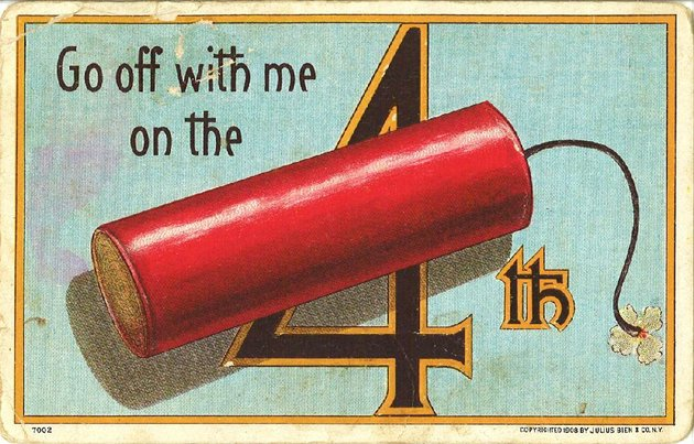 fort-smith-1913-a-card-celebrating-july-4-went-to-texas-with-audear-girl-and-sending-your-package-today-i-am-nearly-meltedau-holiday-greetings-were-a-popular-subject-for-postcards-in-the-early-20th-century