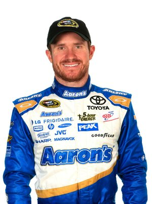 DAYTONA BEACH, FL - FEBRUARY 13:  NASCAR Sprint Cup Series driver Brian Vickers poses during the 2014 NASCAR Media Day at Daytona International Speedway on February 13, 2014 in Daytona Beach, Florida.  (Photo by Jamie Squire/NASCAR via Getty Images)