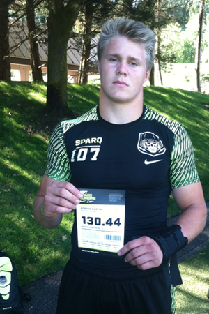 Linebacker Porter Gustin is on Arkansas' radar.