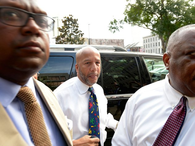 former-new-orleans-mayor-ray-nagin-is-surrounded-by-media-as-he-arrives-for-his-sentencing-hearing-wednesday-july-9-2014-in-new-orleans-nagin-was-sentenced-to-10-years-in-prison-on-wednesday-for-his-conviction-on-bribery-money-laundering-and-other-corruption-charges