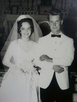 Phyllis and Ray Oblinger on their wedding day, July 11, 1964