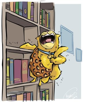 Climbing cat Arkansas Democrat-Gazette illustration.