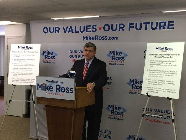 democratic-gubernatorial-candidate-mike-ross-introduces-his-crime-reduction-plan-for-the-state-of-arkansas-on-tuesday-at-his-campaign-headquarters-in-little-rock