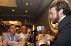 Missouri quarterback Maty Mauk speaks to media at the Southeastern Conference NCAA college football media days on Wednesday, July 16, 2014, in Hoover, Ala. (AP Photo/Butch Dill)