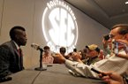 Texas A&M defensive back Deshazor Everett speaks to the media at the Southeastern Conference NCAA college football media days, Tuesday, July 15, 2014, in Hoover, Ala. (AP Photo/Butch Dill)