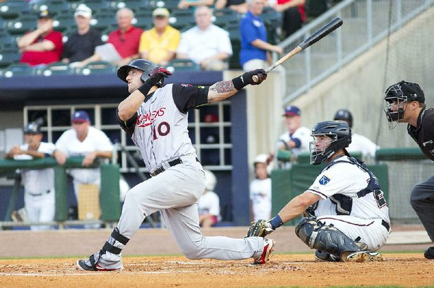 arkansas-travelers-designated-hitter-michael-bianucci-finished-with-one-hit-a-ninth-inning-leadoff-home-run-against-the-northwest-arkansas-naturals-at-arvest-ballpark-in-springdale-on-monday
