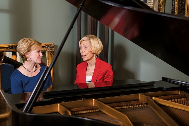 camille-talburt-left-the-first-president-of-the-russellville-symphony-guild-sits-at-the-piano-in-her-home-and-talks-with-current-president-ann-squyres-talburt-was-one-of-the-women-who-founded-the-guild-25-years-ago-to-support-the-arkansas-symphony-orchestra-talburt-said-the-russellville-group-is-one-of-only-three-symphony-guilds-in-arkansas