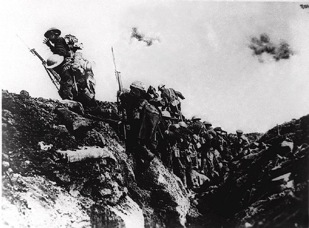 file-us-troops-of-zero-hour-company-go-over-the-top-during-trench-warfare-at-an-unidentified-battlefield-in-europe-during-world-war-i-the-first-world-war-was-triggered-june-28-1914-when-archduke-franz-ferdinand-of-austria-and-his-wife-were-assassinated-in-sarajevo-bosnia-setting-off-a-chain-of-events-that-would-lead-the-united-states-to-declare-war-on-april-6-1917-to-make-the-world-safe-for-democracy-more-than-nine-million-people-died-many-of-them-in-the-trenches-before-armistice-day-nov11-1918ap-photo