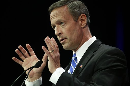 file-in-this-march-8-2014-file-photo-maryland-gov-martin-omalley-speaks-during-a-general-session-at-the-california-democrats-state-convention-in-los-angeles-omalleys-latest-foray-into-iowa-begins-appropriately-in-a-place-called-clinton-the-maryland-governor-is-filling-the-void-in-iowa-new-hampshire-and-beyond-during-the-infancy-of-the-2016-presidential-race-campaigning-for-fellow-democrats-and-making-personal-appeals-while-former-secretary-of-state-hillary-rodham-clinton-remains-the-prohibitive-if-undeclared-favorite-starting-the-weekend-in-clinton-iowa-the-relatively-unknown-omalley-is-trying-to-lay-the-groundwork-for-a-presidential-campaign-whether-clinton-runs-or-not