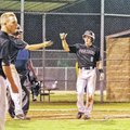 Special To NWA Media Bud Sullins Cole Reed, Siloam Springs outfielder, celebrates with a teammate af...
