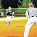 Special To NWA Media Bud Sullins Daniel Kent, Siloam Springs center fielder, races toward third base...