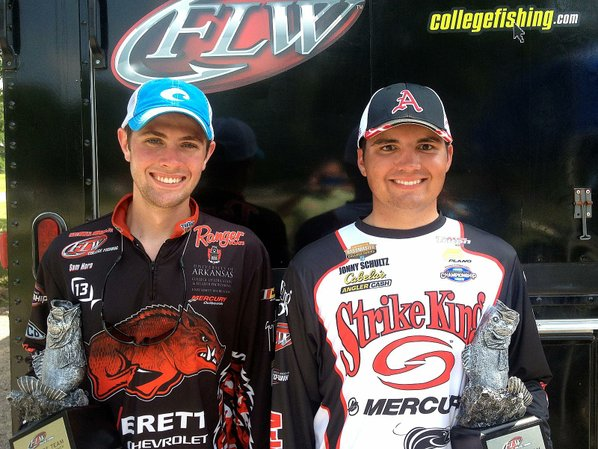 Fishing ua team wins flw event nwadg for Lake dardanelle fishing report