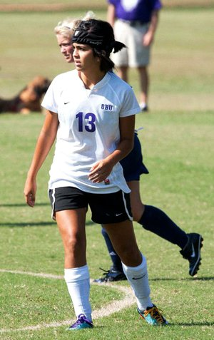 Former Ouachita Baptist soccer player Angel Palacios said in the lawsuit there were no concussion tests administered by the OBU training staff and she was not sent to the emergency room after suffering a concussion during a practice in 2011.