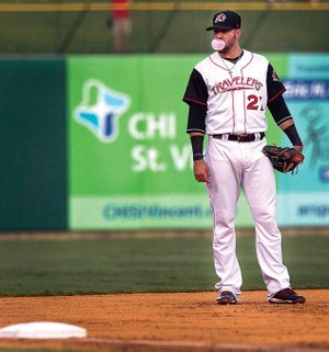 Arkansas third baseman Kaleb Cowart, in his second season with the Travelers and struggling at the plate, has abandoned switch-hitting and has become a full-time left-handed hitter.