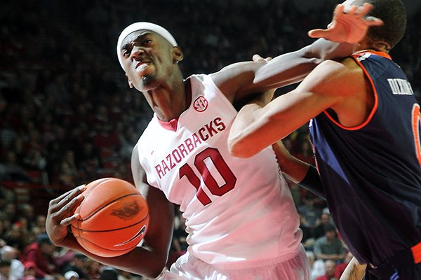 arkansas-bobby-portis-left-elbows-out-auburns-asauhn-dixon-tatum-saturday-jan-25-2014-during-the-second-half-of-the-game-against-auburn-at-bud-walton-arena-in-fayetteville