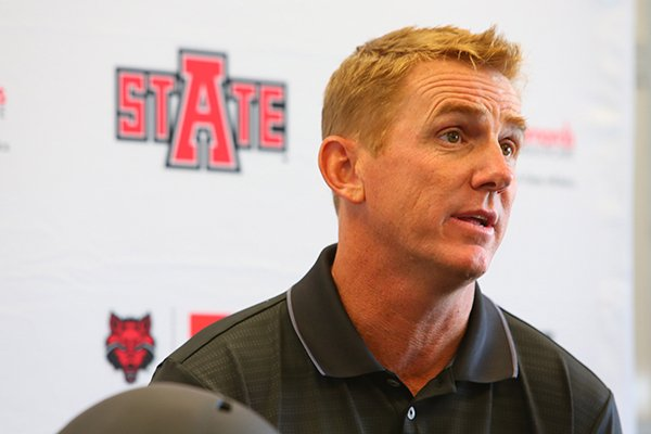 arkansas-state-football-coach-blake-anderson-answers-questions-during-wednesdays-media-day-in-jonesboro