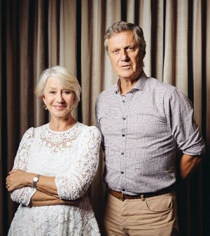 "In this Saturday, July 12, 2014 photo, actress Helen Mirren, left, and director Lasse Hallstrom pose for a portrait during press day for ""The Hundred-Foot Journey"" at The Four Seasons in Los Angeles. In the film, directed by Hallstrom, Mirren plays Madame Mallory, a prickly and particular restaurateur who takes overcooked asparagus as a personal affront. Her Michelin-starred restaurant, set in a quaint village that looks like a postcard, is among the most celebrated in France, and Mallory presides unforgivingly over its staff and cuisine. (Photo by Casey Curry/Invision/AP)"