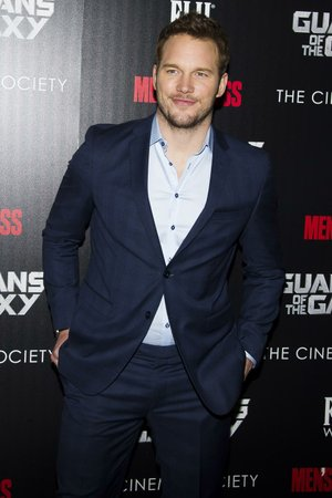 "Chris Pratt attends a screening of ""Guardians of the Galaxy"" hosted by The Cinema Society and Men's Fitness on Tuesday, July 29, 2014, in New York. (Photo by Charles Sykes/Invision/AP)"
