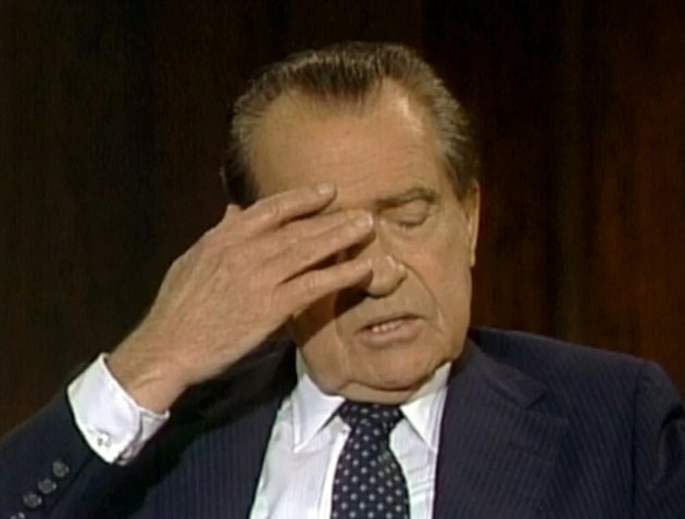 in-this-june-10-1983-frame-grab-of-video-made-available-by-raiford-communications-inc-former-president-richard-nixon-talks-about-his-1974-resignation-in-a-series-of-interviews-conducted-by-former-white-house-aide-frank-gannon-in-new-york-city-the-richard-nixon-presidential-library-and-the-privately-held-nixon-foundation-are-co-releasing-a-trove-of-videotaped-interviews-with-the-former-president-to-mark-the-40th-anniversary-of-his-resignation-after-the-watergate-scandal-the-28-minutes-of-tape-detailing-nixons-personal-turmoil-in-his-final-week-in-office-were-culled-from-more-than-30-hours-of-tape-recorded-in-1983