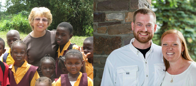 this-photo-collage-shows-nancy-writebol-left-with-children-in-liberia-and-dr-kent-brantly-right-with-his-wife-amber-brantly-became-the-first-person-infected-with-ebola-to-be-brought-to-the-united-states-from-africa-arriving-at-at-emory-university-hospital-in-atlanta-on-saturday-aug-2-2014-fellow-aid-worker-writebol-arrived-tuesday-aug-5-2014
