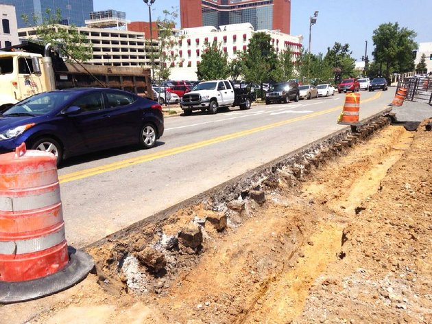 a-line-of-concrete-encased-railroad-ties-that-once-supported-little-rocks-old-streetcar-system-were-exposed-during-a-construction-project-recently-in-the-200-block-of-main-street