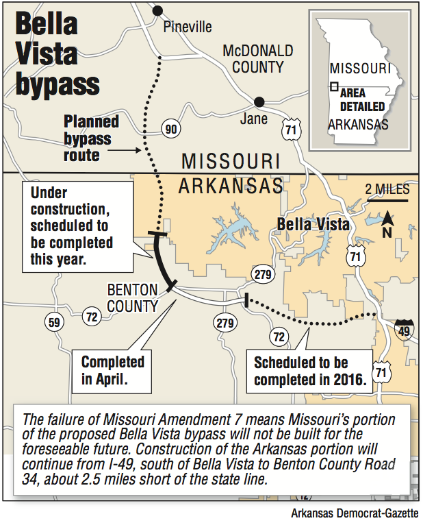 Bella Vista Bypass On Ice After Missouri Rejects Tax