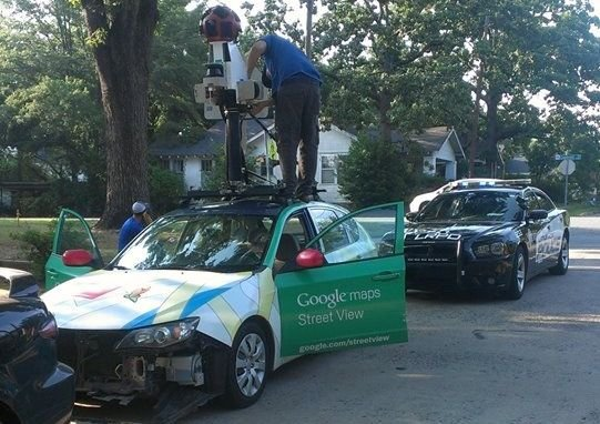 a-google-street-view-driver-checks-his-equipment-after-he-hit-another-car-while-trying-to-turn-onto-cantrell-road-on-wednesday-evening