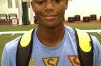 Junior DB Chanse Sylvie impressed at Arkansas' camp.