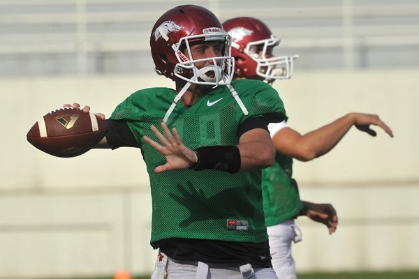 arkansas-quarterback-brandon-allen-runs-drills-saturday-aug-9-2014-at-razorback-stadium-in-fayetteville