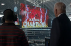 Dallas Cowboys owner Jerry Jones predicts Arkansas will win the first College Football Playoff in an ESPN commercial.