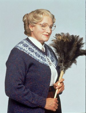 Mrs. Doubtfire, aka Robin Williams, in 1993.