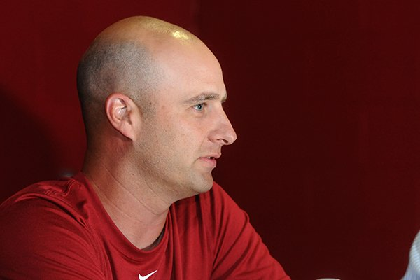 arkansas-tight-ends-coach-barry-lunney-jr-answers-questions-during-the-schools-media-day-sunday-aug-11-2013-at-the-fred-w-smith-football-center-in-fayetteville
