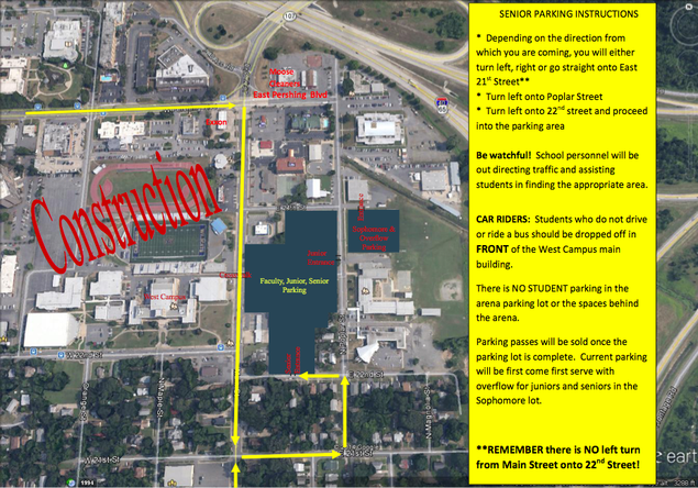 Parking maps released for NLR high school