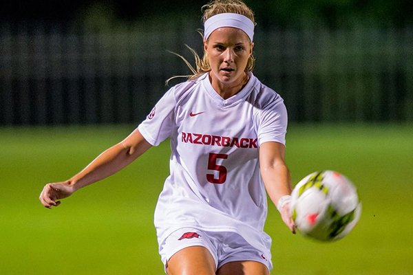Tyler Allen's 40-yard goal in the 65th minute helped Arkansas beat Creighton 2-1 in Fayetteville.