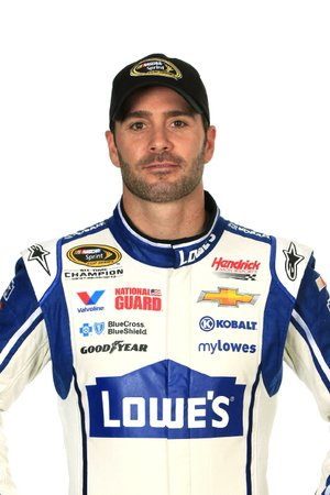 DAYTONA BEACH, FL - FEBRUARY 13:  NASCAR Sprint Cup Series driver Jimmie Johnson poses for a portrait during the 2014 NASCAR Media Day at Daytona International Speedway on February 13, 2014 in Daytona Beach, Florida.  (Photo by Jamie Squire/NASCAR via Getty Images)