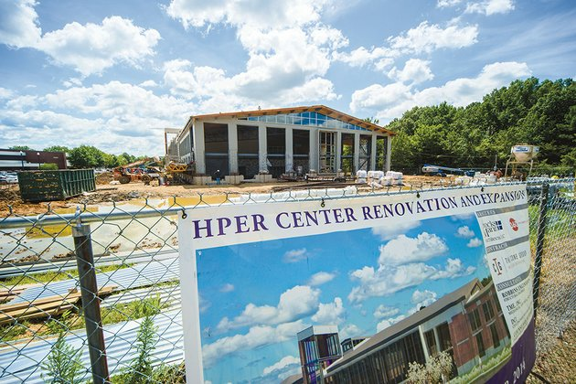 the-university-of-central-arkansas-health-physical-education-and-recreation-center-is-undergoing-a-155-million-renovation-and-expansion-which-is-scheduled-to-be-done-nov-11-students-and-faculty-have-been-given-access-to-a-conway-fitness-center-until-the-hper-facility-reopens-rain-delayed-the-opening-said-dave-dennis-director-of-campus-recreation-the-project-was-student-driven-officials-said-by-members-of-the-student-government-association