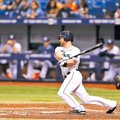 Courtesy Photo Tampa Bay Rays Logan Forsythe bats during the game between the Baltimore Orioles vs....