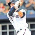 Staff Photo J.T. Wampler Brian Fletcher, Northwest Arkansas Naturals' designated hitter, gets...