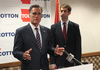 Former Massachusetts Governor and Republican presidential nominee Mitt Romney endorses U.S. Senate hopeful Tom Cotton Thursday.