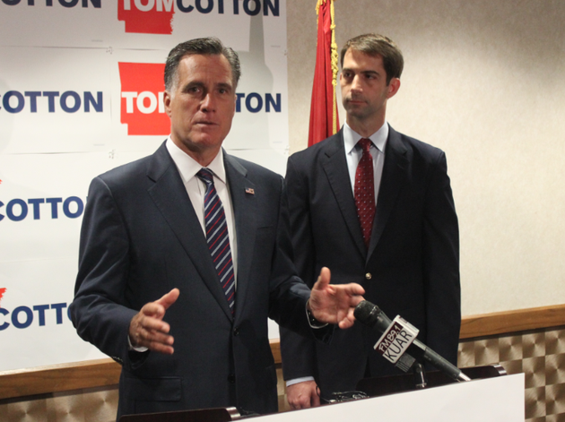former-massachusetts-governor-and-republican-presidential-nominee-mitt-romney-endorses-us-senate-hopeful-tom-cotton-thursday