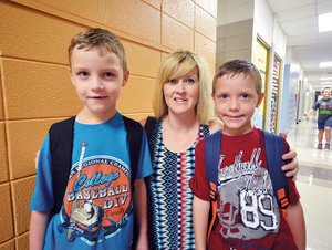 First day of school, Conway's Julia Lee Moore Elementary