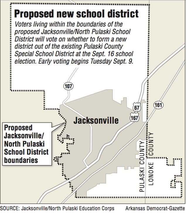 Jacksonville-area vote on school district a 1st | NWADG