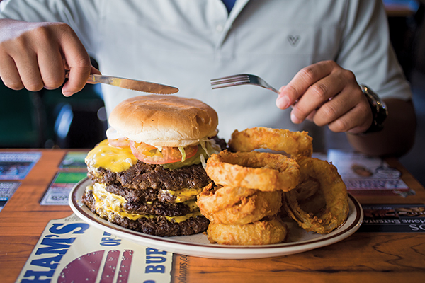 Quadruple+Hubcap+Burger+Little+Rock Quadruple Hubcap Cheeseburger from ...
