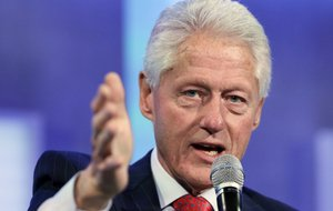 "Former President Bill Clinton speaks during the ""Reimagining Impact"" session at the Clinton Global Initiativeon Monday, Sept. 22, 2014, in New York."