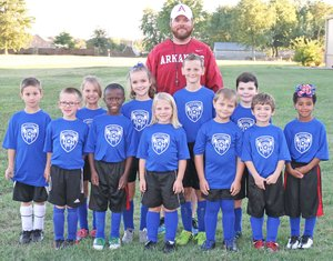 U8 Falcons (Blue) players include Ciara Armstrong, Koda Armstrong, Allie Easterling, Miley Humphrey, Samuel Huston, Nathan King, Caleb Massey, Silas McCoy, Jeremiah Senty, Zephaniah Timmons and Zoey Anne Timmons. Coach is Ty McCoy.