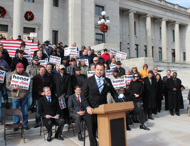 file-josh-duggar-speaks-at-a-rally-at-the-state-capitol-to-urge-the-arkansas-supreme-court-not-to-uphold-a-ruling-that-allowed-gay-marriage-in-the-state-in-this-2014-file-photo