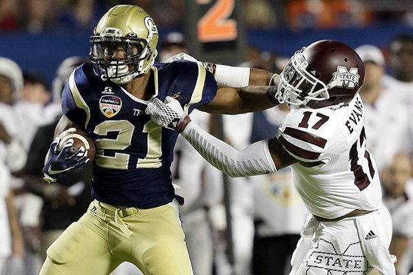6f327446096c1 Georgia Tech running back Charles Perkins (21) runs as Mississippi State  defensive back Deontay