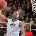 Malik Monk, Bentonville junior, goes up for a dunk against Fort Smith Northside on Tuesday, Jan. 13,...